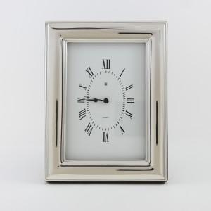 Reloj de plata de mesa Liso