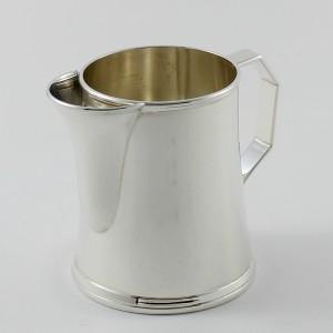 jarra para crema en plata de primera ley castellana