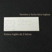 Ejemplos de los grabados que ofrecemos a nuestros clientes