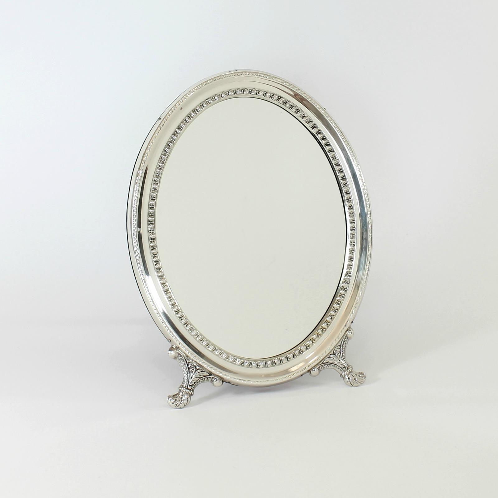 espejo tocador ovalado cordon whiterman plata On espejo ovalado plata