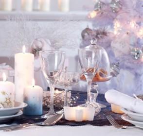 Cenas de navidad con cubiertos de plata