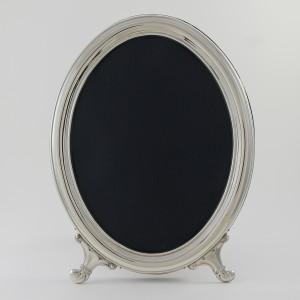 Marco de fotos de plata modelo ovalado liso