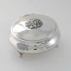 Joyero  de plata maciza de primera ley