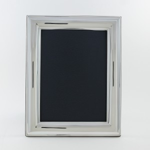 Marco de fotos  de plata modelo Liso