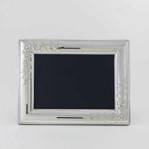 Marcos de fotos de plata modelo Floral