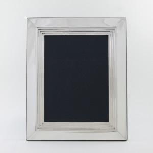 Marco de fotos liso de plata modelo Berlin