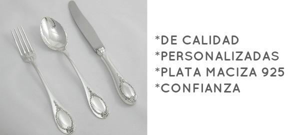 CUBERTERIA DE PLATA MACIZA