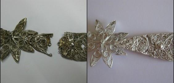Restauraciones de objetos de plata