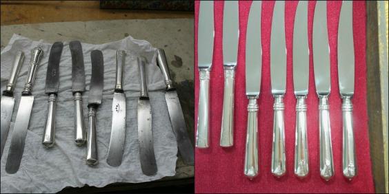 restauración de cuchillos