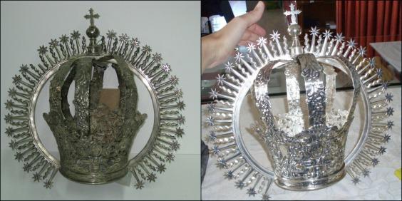 restauración de una corona