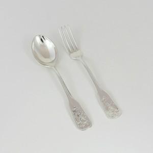 Cubiertos de plata niño Fábula