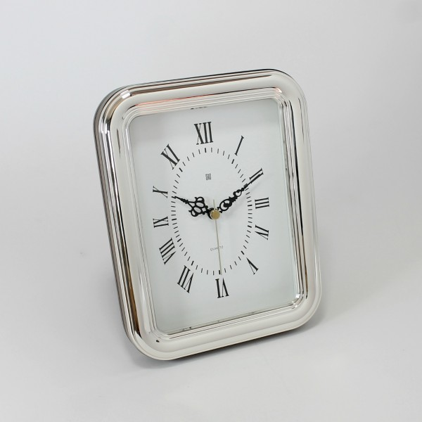 Reloj de mesa modelo Arco, plata de primera ley
