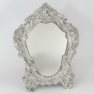 Espejo de mesa de plata barroco