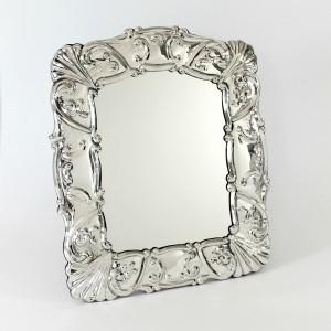 Espejo de mesa de plata Zarcillos