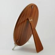 Trasera de madera del espejo tocador ovalado