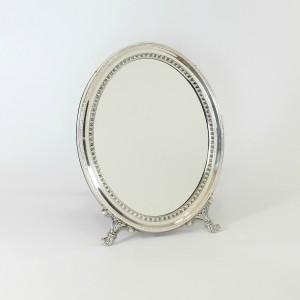 Espejo de mesa de plata Ovalado cordón