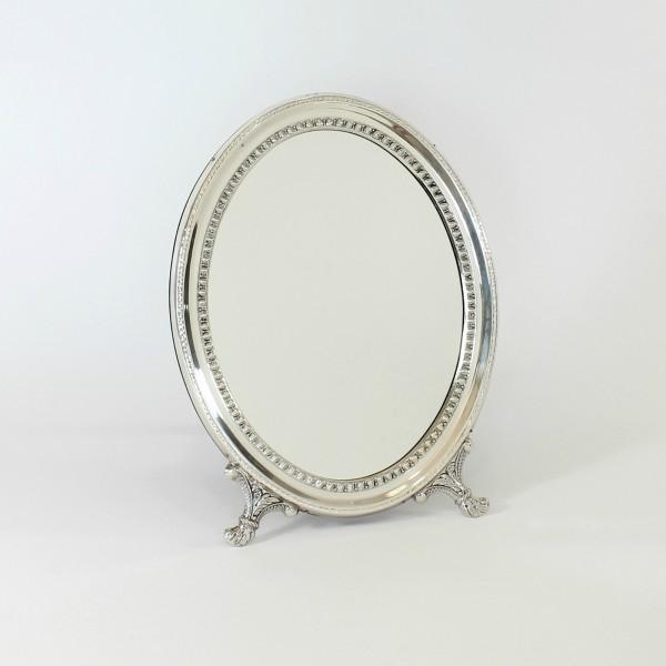 Espejo tocador  de plata Ovalado Cordón