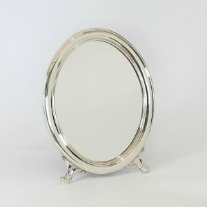 Espejo de mesa de plata Ovalado liso