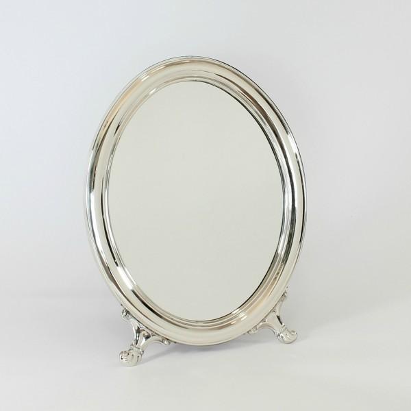 Espejo tocador  de plata Ovalado Liso