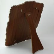Trasera de madera del espejo tocador Zarcillos