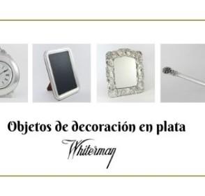 Objetos decoración en plata