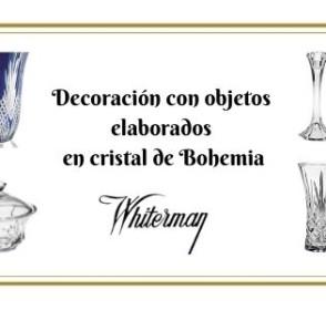 Objetos decoración en cristal de Bohemia
